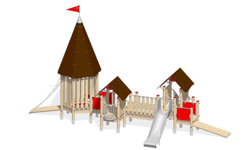 Urządzenia zabawowe Na Plac Zabaw Producent Zamek 9