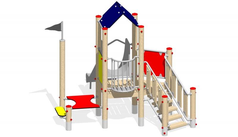 Urządzenia zabawowe Na Plac Zabaw Producent Zestaw 4