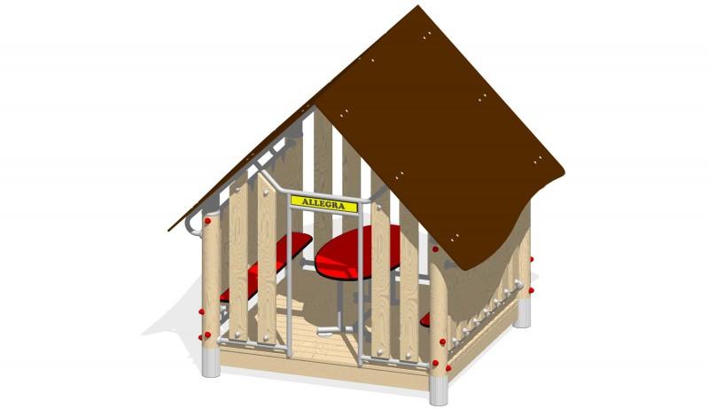 Urządzenia zabawowe Na Plac Zabaw Producent Zestaw Domek alpejski