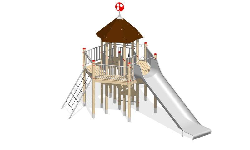 Urządzenia zabawowe Na Plac Zabaw Producent Zestaw Wieża 14