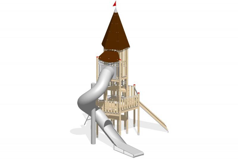 Urządzenia zabawowe Na Plac Zabaw Producent Zestaw Wieża 16